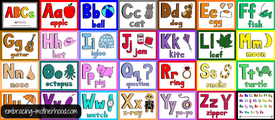 Cursive ABC Flashcards and Posters - Free Printables