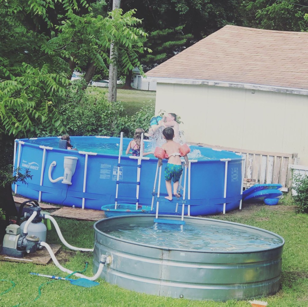 8 Foot Stock Tank Pool and 15 Foot Intex Pool Upgrade (2018)
