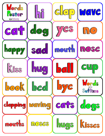 Words Flashcards Poster