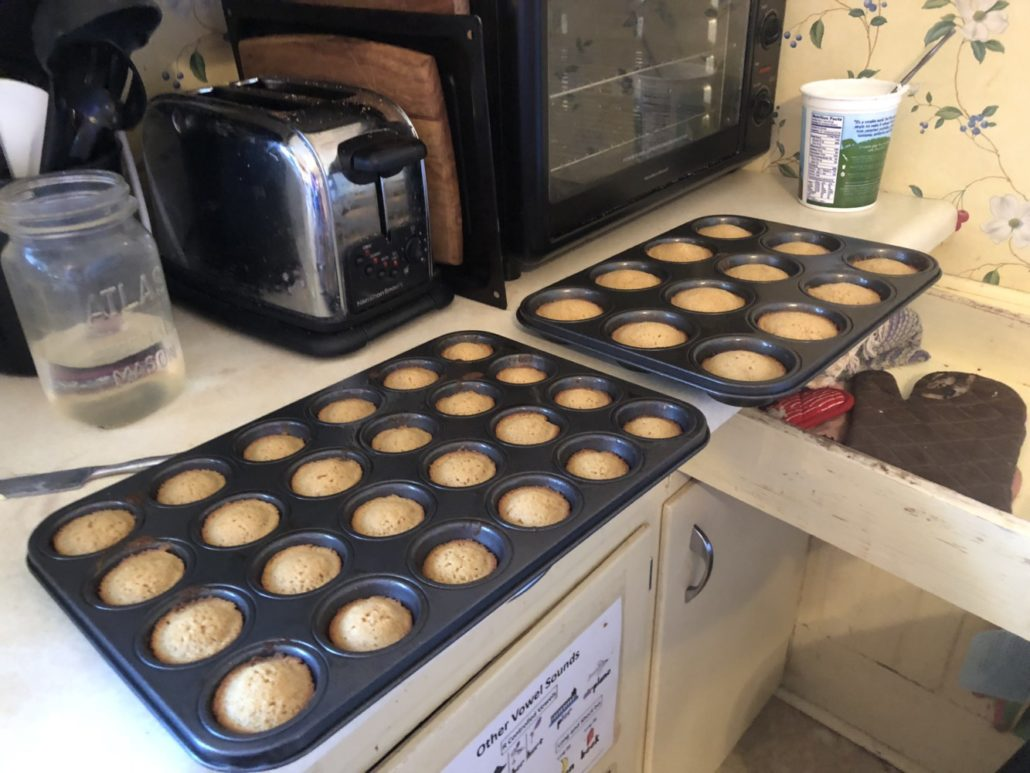 Cupcakes Baked and Cooling