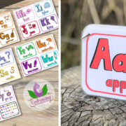 ABC Horizontal Flashcards (4 per page)