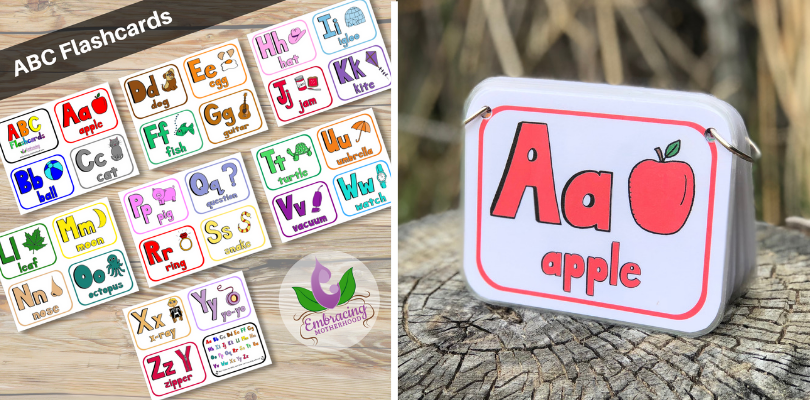 ABC Flashcards with Rounded Corners