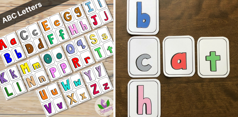 ABC Letters Flashcards (4 per page)