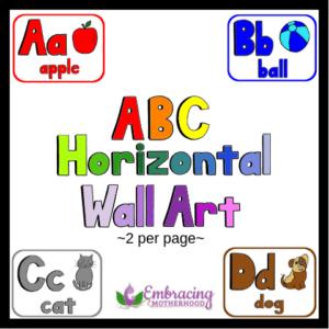 abc horizontal wall art