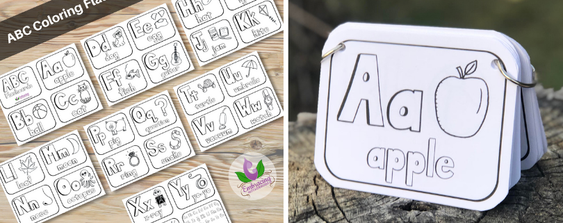 black and white flashcards
