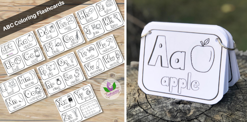 Black and White ABC Flashcards