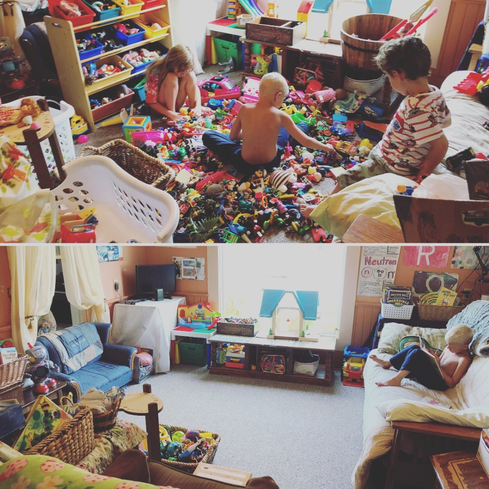 Sorting and Organizing All of the Toys in Our House