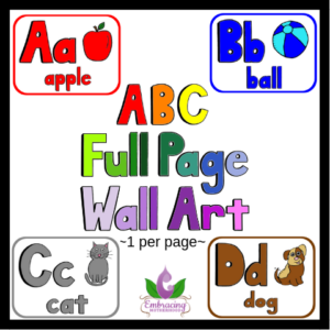 abc full page wall art posters