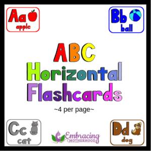 ABC Horizontal Flashcards