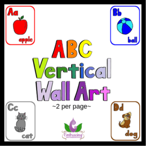 abc vertical wall art