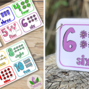 numbers flashcards rectangle