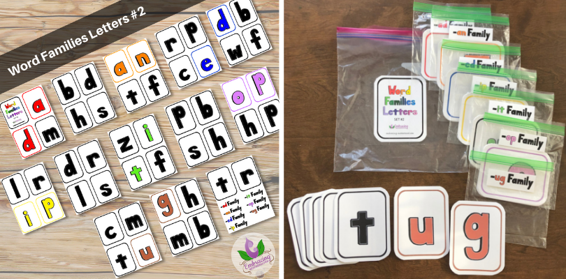 Word Families Letters Flashcards Set #2