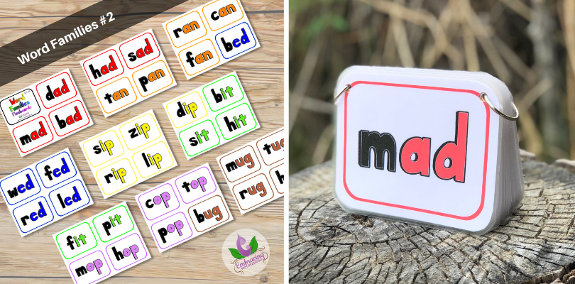 Word Families Flashcards Set #2