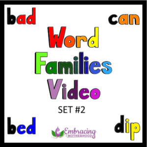 word families video #2