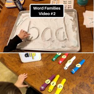 word families video #2 screen shots
