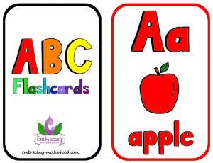 ABC Vertical Flashcards Centered