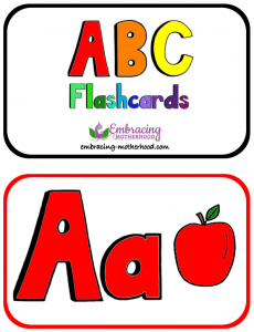 Large ABC Flashcards 2 Per Page No Word