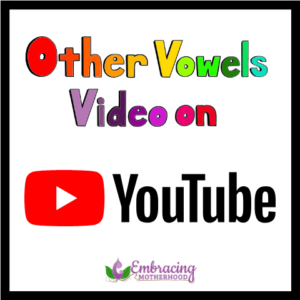 other vowels on youtube