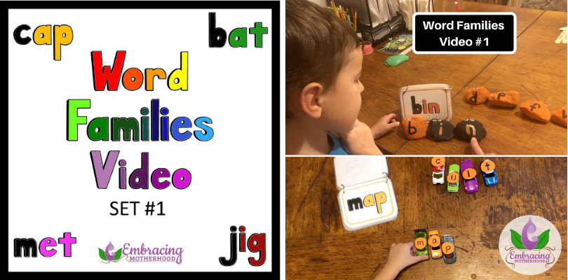 Word Families Video Set #1