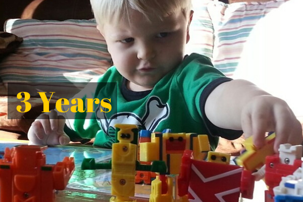 3 Year Old Elliot Playing with his ABC Transformers