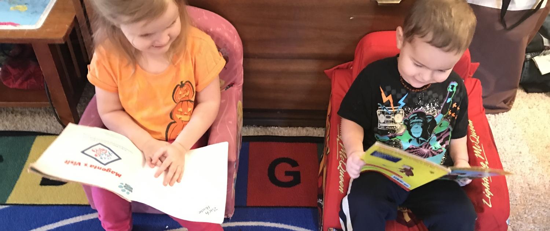 Ophelia and Julian Reading Books