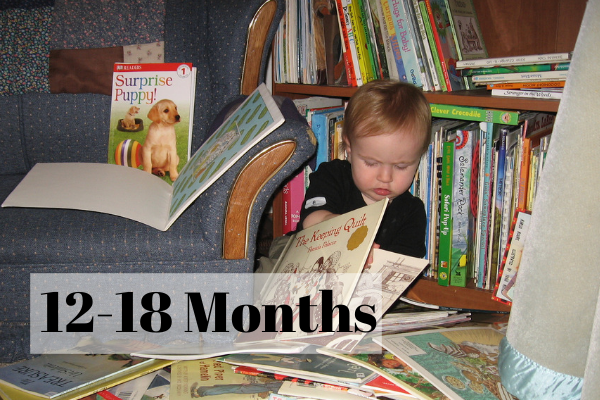 One Year Old Ruby Loves Reading Books