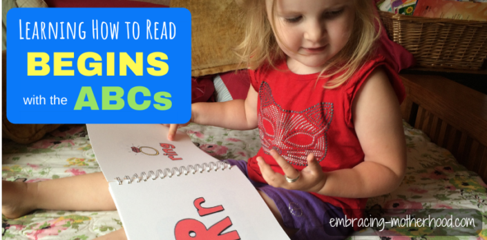 learning to read begins with the abcs