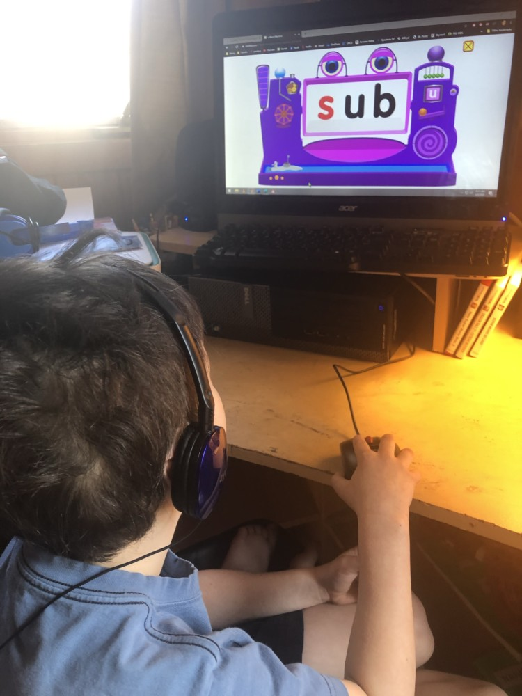 Julian Using Starfall on a Computer