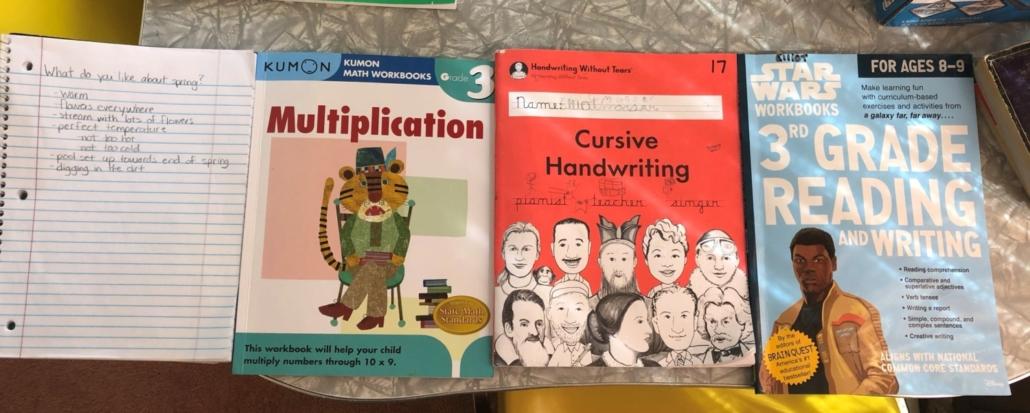 Elliot's Paper/Pencil Activities