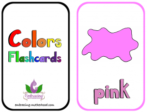 Large Colors Flashcards 2 Per Page