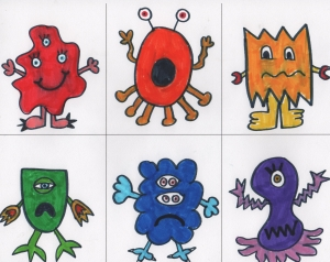 Monsters Colored In