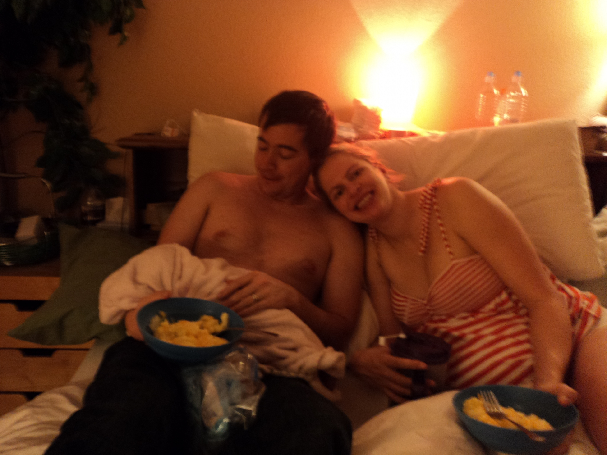 Eating Eggs in Bed