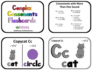 complex consonants flashcards title page