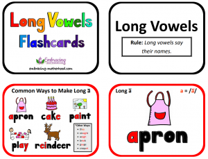 long vowels flashcards title page snip