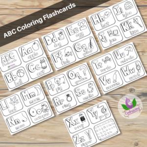 abc black and white flashcards