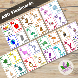 ABC Vertical Flashcards
