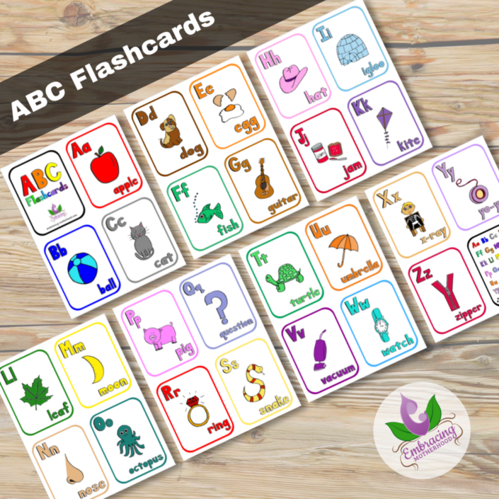 ABC Vertical Flashcards