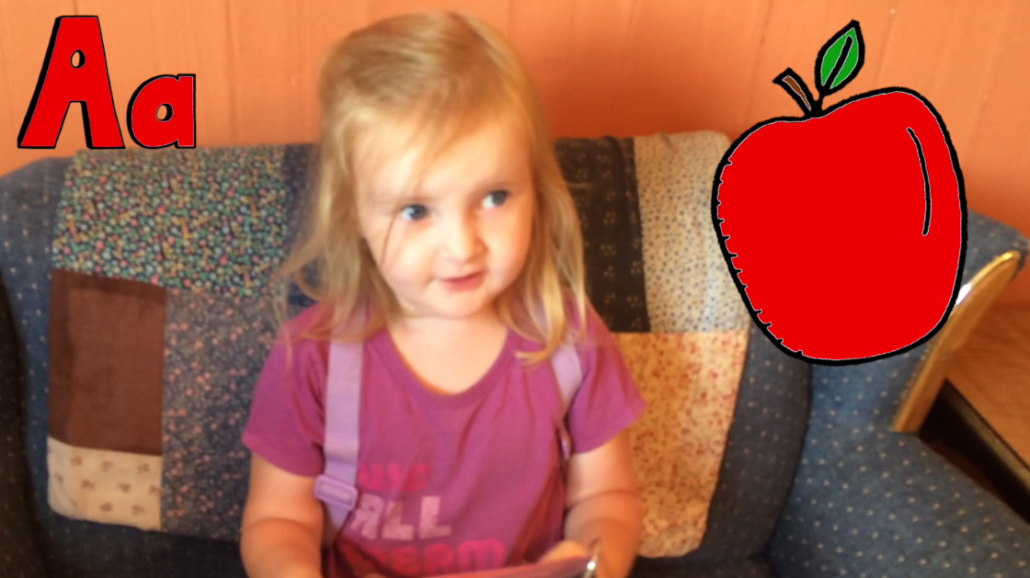Ophelia (2) Talks About Eating an Apple